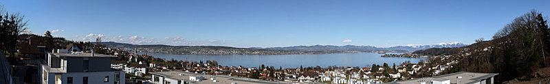 View of lake Zurich from Richterswil